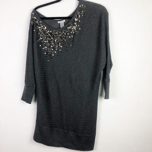 Caché off the shoulder beaded tunic